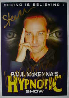 Paul McKenna autograph