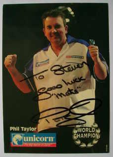 Phil Taylor autograph
