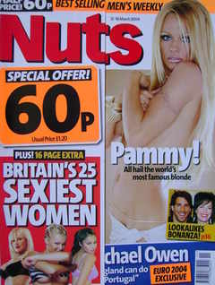 Nuts magazine - Pamela Anderson cover (12-18 March 2004)