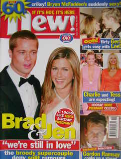 New magazine - 24 May 2004 - Brad Pitt and Jennifer Aniston cover