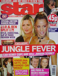 Star magazine - Kerry McFadden and Jordan cover (31 January - 6 February 2004, Issue 11)