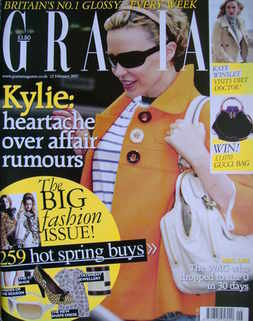 <!--2007-02-12-->Grazia magazine - Kylie Minogue cover (12 February 2007)
