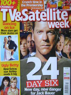 TV&Satellite Week magazine - Kiefer Sutherland cover (20-26 January 2007)