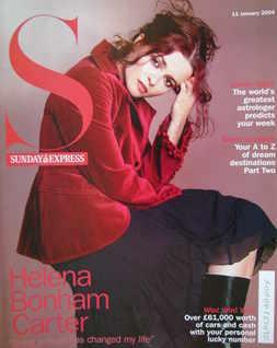 <!--2004-01-11-->Sunday Express magazine - 11 January 2004 - Helena Bonham Carter cover