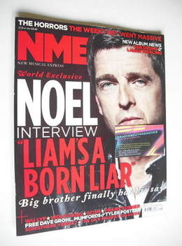<!--2011-07-23-->NME magazine - Noel Gallagher cover (23 July 2011)