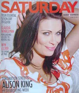 <!--2011-06-18-->Saturday magazine - Alison King cover (18 June 2011)