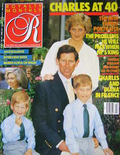 Royalty Monthly magazine - Prince Charles and Family cover (December 1988, Vol.8 No.3)