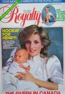 <!--1984-11-->Royalty Monthly magazine - Princess Diana and Prince Harry co