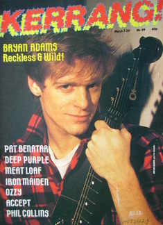 <!--1985-03-07-->Kerrang magazine - Bryan Adams cover (7-20 March 1985 - Is