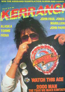 <!--1985-05-02-->Kerrang magazine - Ace Frehley cover (2-15 May 1985 - Issu