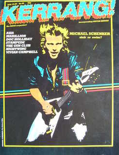<!--1983-07-14-->Kerrang magazine - Michael Schenker cover (14-27 July 1983