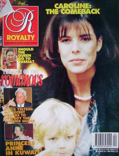 <!--1992-01-->Royalty Monthly magazine - Princess Caroline of Monaco cover