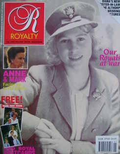Royalty Monthly magazine - Princess Elizabeth cover (October 1989, Vol.9 No.1)