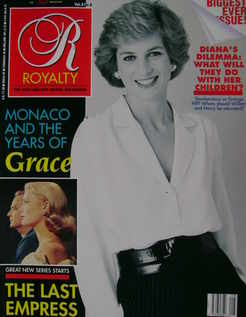 Royalty Monthly magazine - Princess Diana cover (May 1989, Vol.8 No.8)