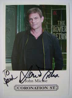 John Michie autograph