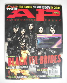 Alternative Press magazine - April 2011 - Black Veil Brides cover (Cover 1)