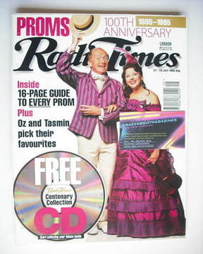<!--1995-07-22-->Radio Times magazine - Oz Clarke and Tasmin Little cover (