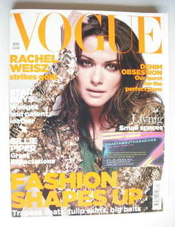 <!--2006-04-->British Vogue magazine - April 2006 - Rachel Weisz cover