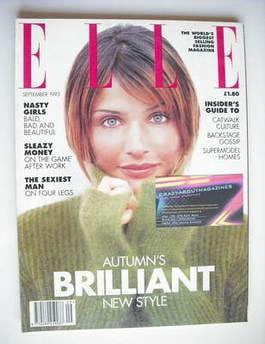 British Elle magazine - September 1993 - Helena Christensen cover
