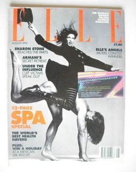 British Elle magazine - August 1993 - Stephanie Seymour and Marcus Schenkenberg cover