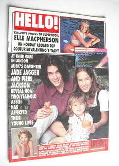 <!--1994-09-03-->Hello! magazine - Jade Jagger and Piers Jackson cover (3 S