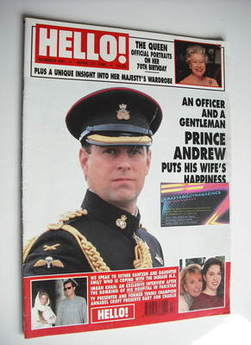 <!--1996-04-27-->Hello! magazine - Prince Andrew cover (27 April 1996 - Issue 404)