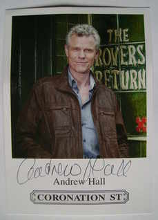 Andrew Hall autograph (hand-signed photograph)