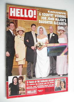 <!--2000-04-11-->Hello! magazine - Elizabeth Major and Luke Salter wedding