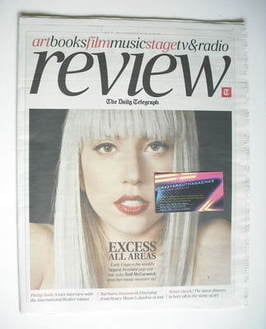 The Daily Telegraph Review newspaper supplement - 21 May 2011 - Lady Gaga c