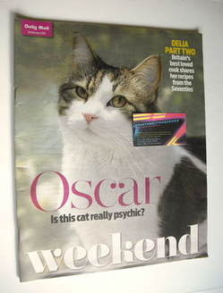 Weekend magazine - Oscar the Cat cover (6 February 2010)