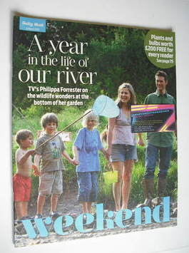 Weekend magazine - Philippa Forrester and family cover (13 March 2010)