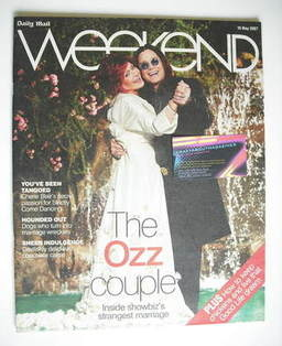 <!--2007-05-19-->Weekend magazine - Sharon Osbourne and Ozzy Osbourne cover (19 May 2007)