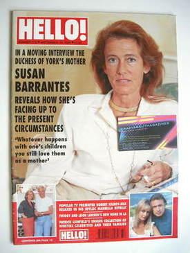 <!--1992-09-12-->Hello! magazine - Susan Barrantes cover (12 September 1992