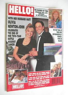<!--1993-10-23-->Hello! magazine - Olivia Newton-John cover (23 October 199