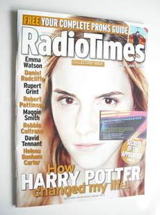 <!--2011-07-16-->Radio Times magazine - Emma Watson cover (16-22 July 2011)