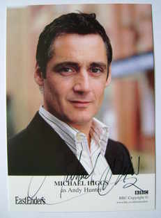 Michael Higgs autograph (ex EastEnders actor)