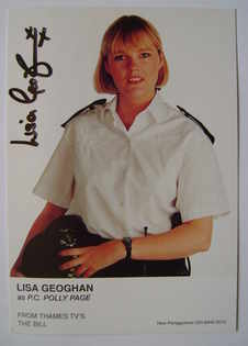 Lisa Geoghan autograph (ex The Bill actor)