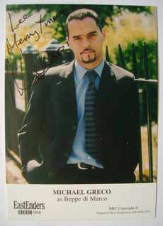 Michael Greco autograph (ex EastEnders actor)