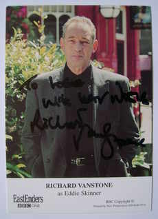 Richard Vanstone autograph (ex EastEnders actor)