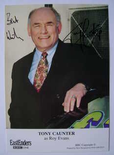 Tony Caunter autograph (ex EastEnders actor)