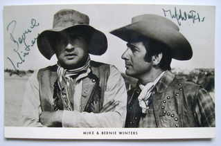 Mike Winters and Bernie Winters autograph