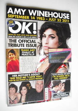 <!--2011-08-02-->OK! magazine - Amy Winehouse cover (2 August 2011 - Issue