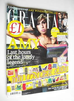 <!--2011-08-08-->Grazia magazine - Amy Winehouse cover (8 August 2011)