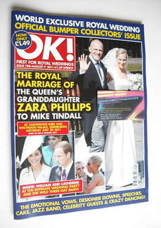 <!--2011-08-09-->OK! magazine - Zara Phillips and Mike Tindall wedding cove