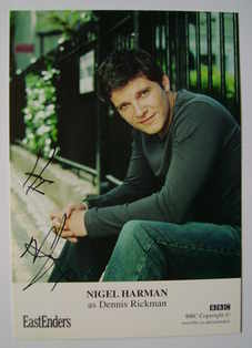 Nigel Harman autograph (ex EastEnders actor)