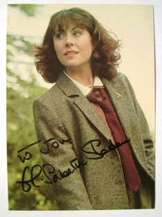 Elisabeth Sladen autograph (hand-signed Doctor Who cast card, dedicated)