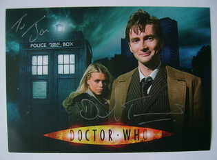 David Tennant autograph (hand-signed photograph, dedicated)