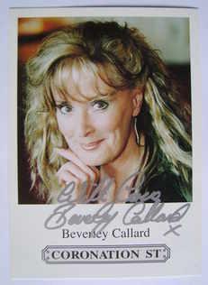 Beverley Callard autograph (hand-signed cast card)