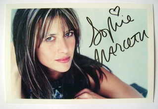 Sophie Marceau autograph