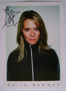 Edith Bowman autograph